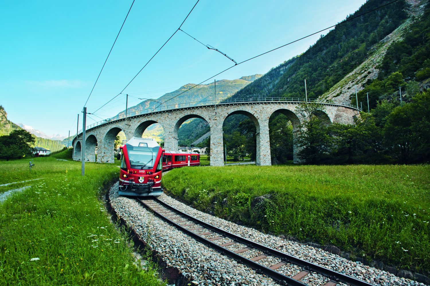 Bernina Express Chur-Tirano na Brusio Viaduct