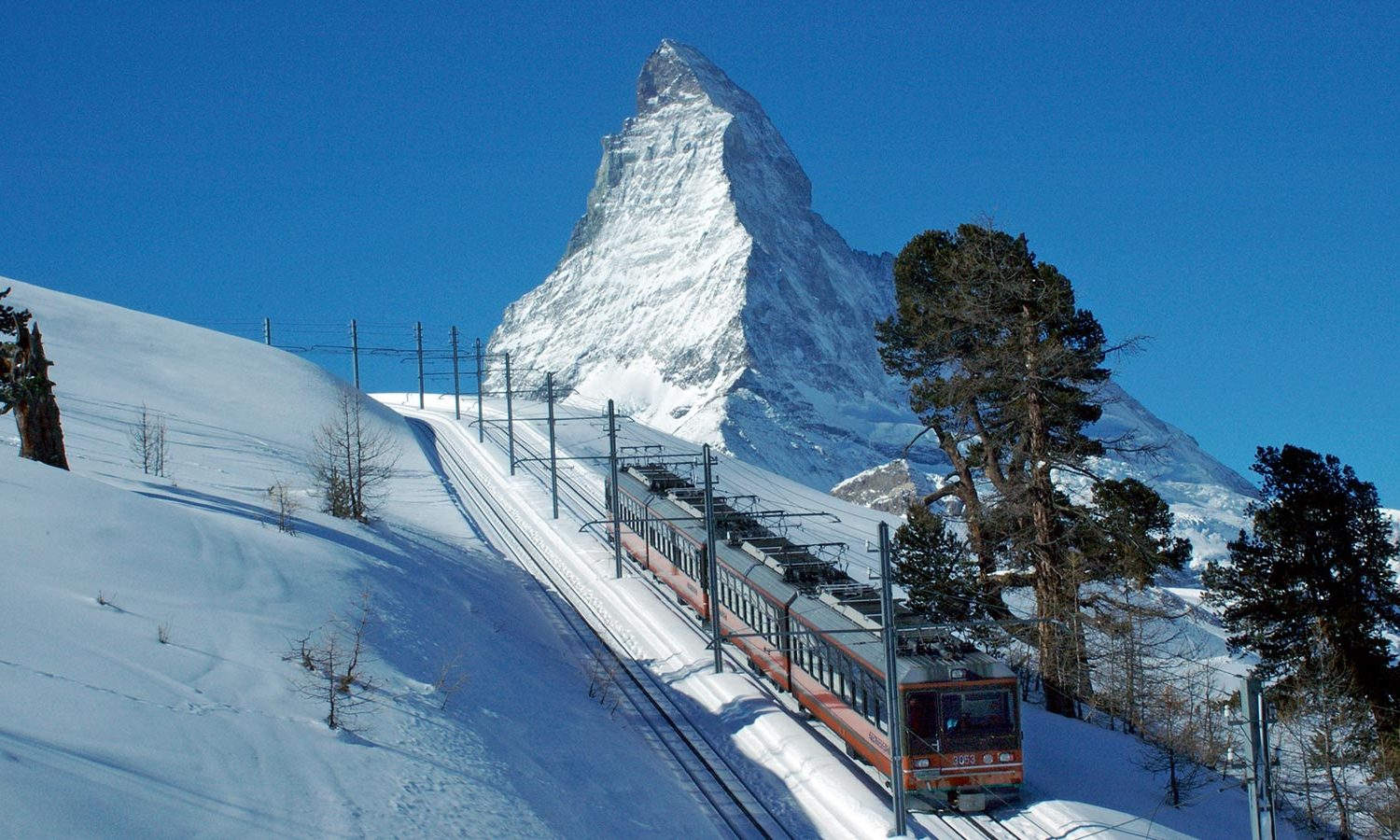 Treinreizen Zwitserland Winter - Gornergrat Bahn winter