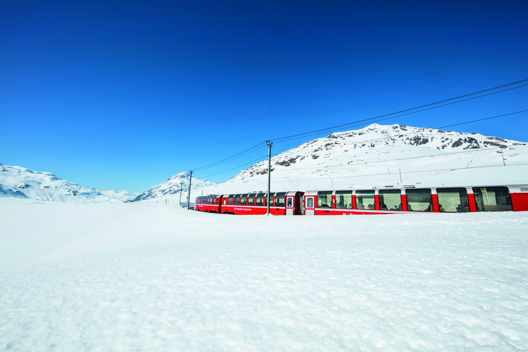 Treinreizen Zwitserland Winter - Bernina Express panoramawagon