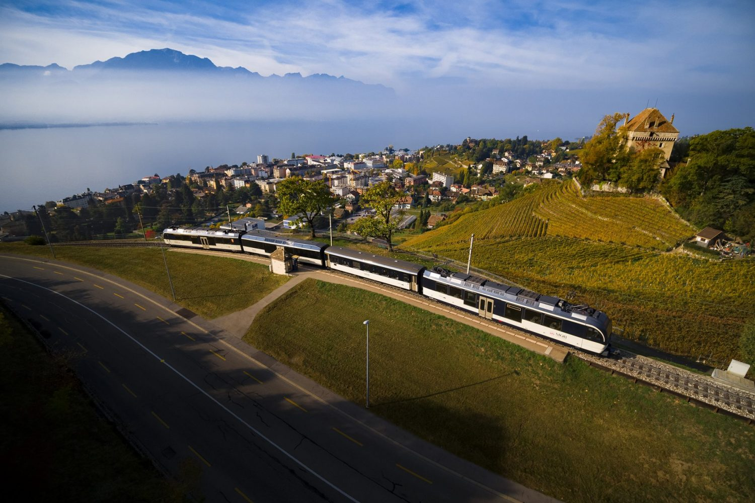 GoldenPass Panoramic onderweg